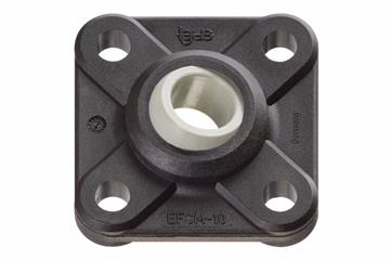 Flange bearings with 4 mounting holes, EFSM, igubal®, spherical ball iglidur® J4