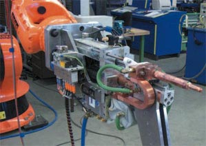 Welding tongs for the automotive industry