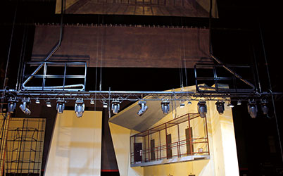 Solutions for theatre / stage construction / lighting equipment