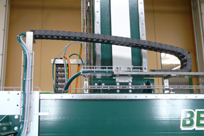 E4.1L Energy supply system with unsupported length in a Beyer machine
