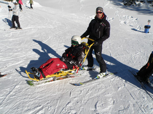 Ski seat for the disabled_01