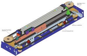 Sliding plug door operating mechanism