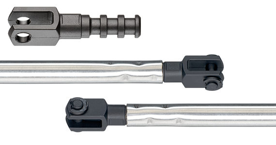 Crimped coupling joints with rotatable clevis joints