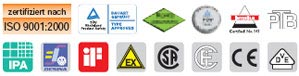 Test certificates, quality seal, etc., from igus® products