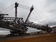 Photo of a strip-mining excavator