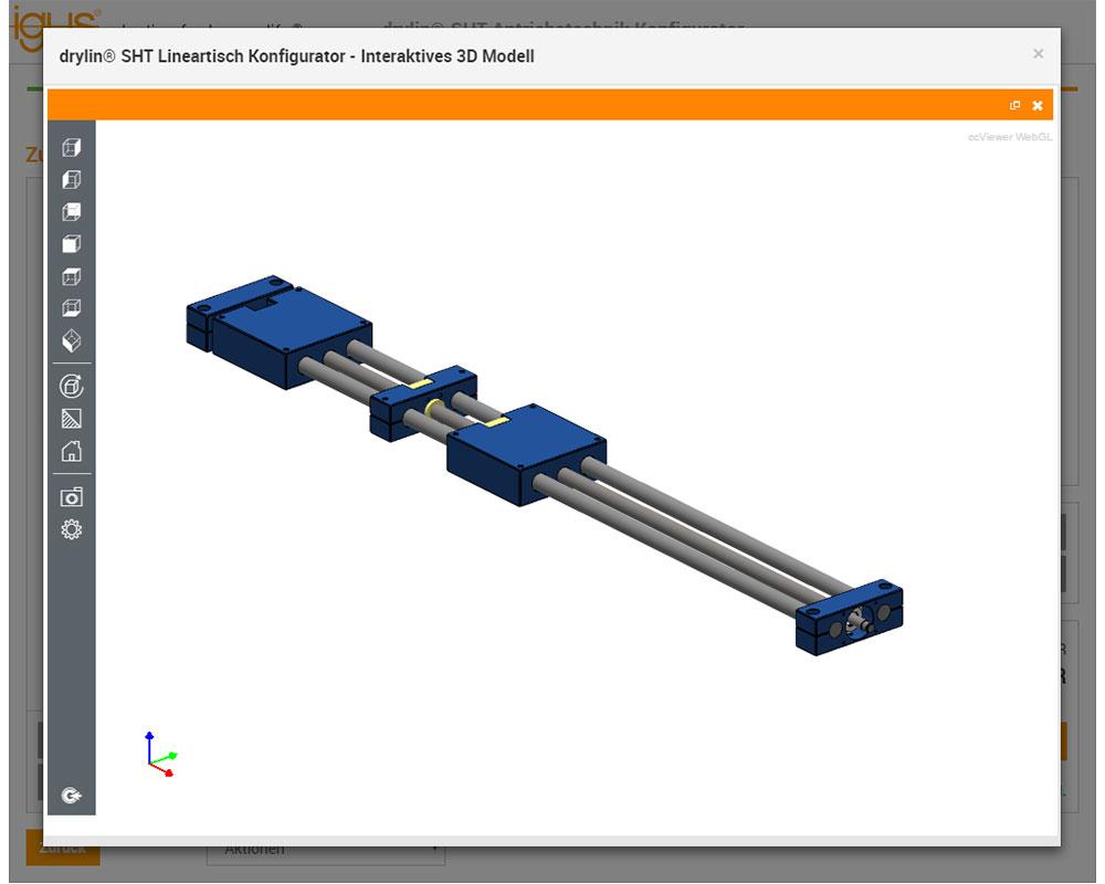 drylin® SHT drive technology configurator