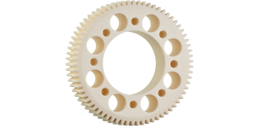 Worm gear printed in 3D