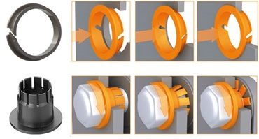 Plain bearings for sheet metal
