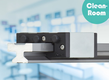 Cleanroom applicable drylin linear guide