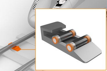 Switch roller in turnout with iglidur plain bearings