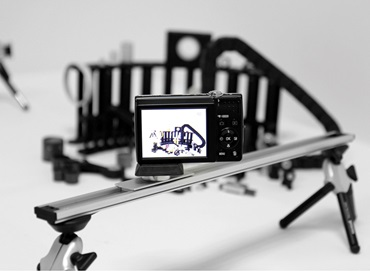 Camera slider and product holder