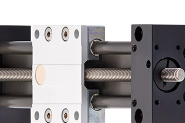 drylin SAW linear guide with lead screw drive
