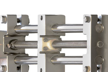 Stainless steel SHT linear axis with lead screw drive