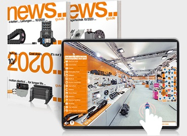 New products catalogue and trade show stand