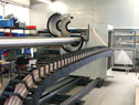 Cutting machine for carbon fibre pipes